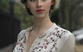 blouses, face, Hermione Corfield, girl, street, actress