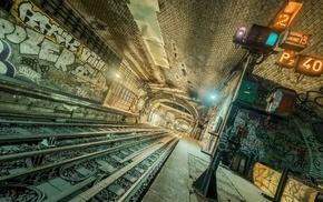 metro, underground, tunnel
