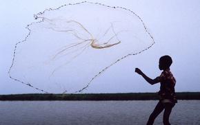 children, fishing, fishing nets, National Geographic