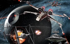 video games, star wars empire at war, TIE Fighter, X, wing, artwork