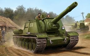 military, World War II, Soviet Army, ISU, 152, war