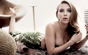 Scarlett Johansson, girl, actress, blonde