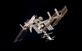 International Space Station, minimalism, space, ISS