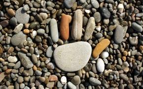 nature, rock, pebbles, handprints