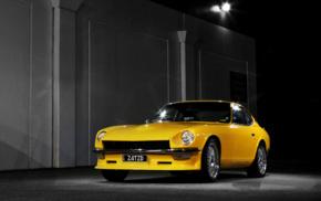 tuning, vehicle, Datsun 240Z, night, car, JDM