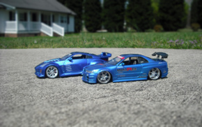 car, blue cars, macro, JDM, tuning, toys