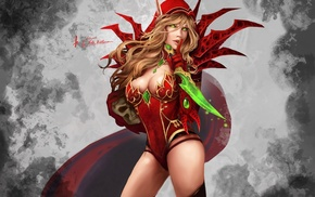 video game characters, girl, World of Warcraft, fantasy art, artwork, Valeera Sanguinar