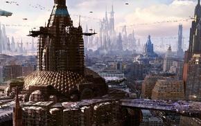 science fiction, futuristic city, artwork, futuristic