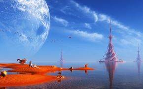 science fiction, fantasy art, artwork