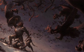 warrior, fantasy art, creature, artwork