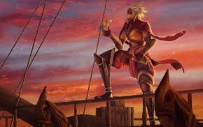pirates, artwork, fantasy art, birds