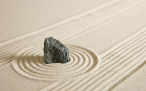 nature, rock, grain, zen, calm, depth of field
