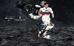 footballers, Mario Gomez, eagle, Besiktas J.K.
