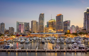 building, yachts, Florida