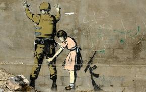 children, graffiti, Banksy