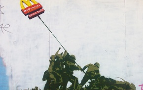 graffiti, McDonalds, artwork, Banksy