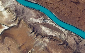 river, aerial view, nature