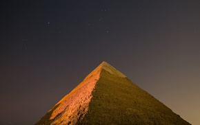 bricks, stars, sky, night, Egypt, Pyramids of Giza
