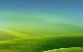 landscape, simple, nature, gradient, green, field