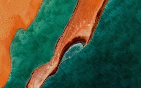 coast, aerial view, peninsula, landscape, sea, surreal