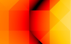 orange, yellow, artwork, abstract