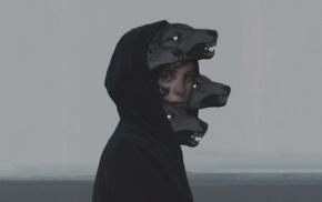 fantasy art, wolf, Scylla, artwork, shy, Yuri_Shwedoff