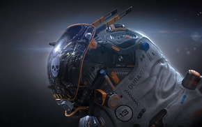 digital art, futuristic, science fiction, artwork