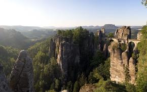 nature, bridge, rock formation, landscape, photography