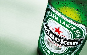 beer, Heineken, macro, photography, bottles