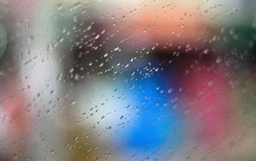 water on glass, photography, bokeh, rain, abstract