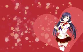 Toujou Nozomi, anime, thigh, highs, anime girls, Love Live