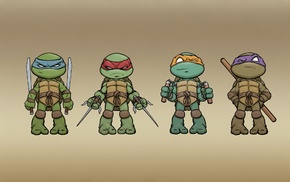 turtle, painting, ninjas, colorful