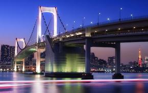 Rainbow Bridge, city, bridge, Tokyo