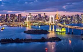 bridge, city, Japan, Tokyo