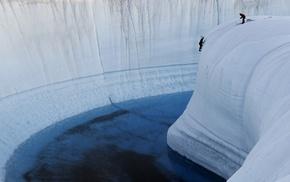climbing, snow, Arctic, ice