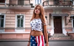 Irina Petrenko, Novinskaya, Stars and Stripes, girl, model