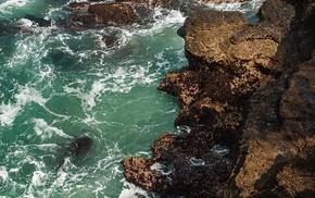 sea, nature, water, rock