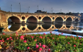 Toulouse, Garonne, Pont, Neuf, France