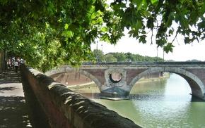 Garonne, Pont, Neuf, Toulouse, France