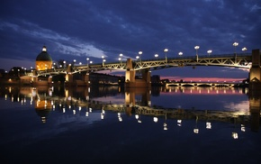 France, Pont Saint, Pierre, river, Toulouse, Garonne