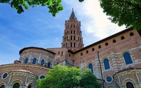 Basilique Saint, Sernin, monument, church, France, Toulouse