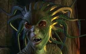 Medusa, artwork, fantasy art, creature