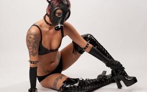 gas masks, latex