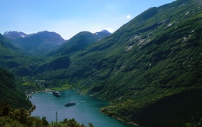 Norway, fjord, Geiranger, nature