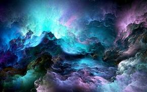 space, nebula, colorful