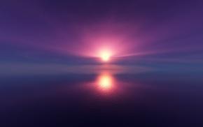 abstract, Sun, sea, reflection