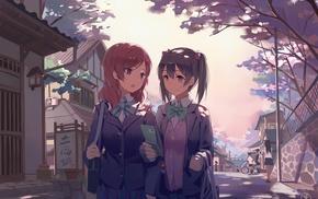 anime, Love Live, Yazawa Nico, Nishikino Maki, anime girls
