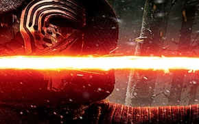 lightsaber, Kylo Ren, movies, Star Wars The Force Awakens