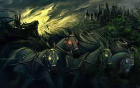 Four Horsemen of the Apocalypse, Grim Reaper, artwork, horse, fantasy art, death
