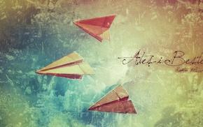 Aerosol Productions, cover art, Kaptan H. Davran, paper planes, emotional, atei bestem